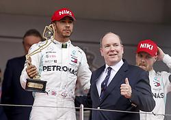May 26, 2019 - Monte Carlo, Monaco - Motorsports: FIA Formula One World Championship 2019, Grand Prix of Monaco, ..#44 Lewis Hamilton (GBR, Mercedes AMG Petronas Motorsport), Prince Albert II of Monaco  (Credit Image: © Hoch Zwei via ZUMA Wire)