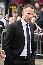 © Licensed to London News Pictures. 27/08/2015. Bury, UK.  Picture shows Ryan Giggs. The funeral of Neville Neville father of footballers Gary & Phil Neville & England net ball coach Tracey has taken place today at Bury Parish church. Neville died in Australia after being taken ill on a visit to support his daughter  Tracey.  Photo credit: Andrew McCaren/LNP