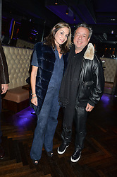 HAMISH McALPINE and CAROLE SILLER at the launch of MNKY HSE Restaurant, 10 Dover Street, London on 19th October 2016.