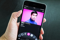BBC IPlayer Radio streaming app showing Asian Network  on an iPhone 6 Plus smart phone