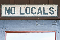 No Locals sign