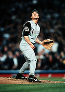 NEW YORK-NOVEMBER 01:  Arizona Diamondbacks relief pitcher Byung-Hyun Kim reacts after giving up a 9th inning home run to New York Yankees 3rd baseman Scott Brosius during Game 5 of the World Series at the Yankee Stadium in New York 1 November, 2001.