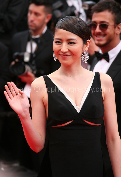 Magami Nagazawa at the the Grace of Monaco gala screening and opening ceremony red carpet at the 67th Cannes Film Festival France. Wednesday 14th May 2014 in Cannes Film Festival, France.