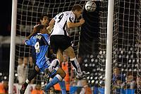 Photo: Daniel Hambury.<br />Fulham v Wycombe Wanderers. Carling Cup. 20/09/2006.<br />Fulham's Heidar Helguson scores to make it 1-2.