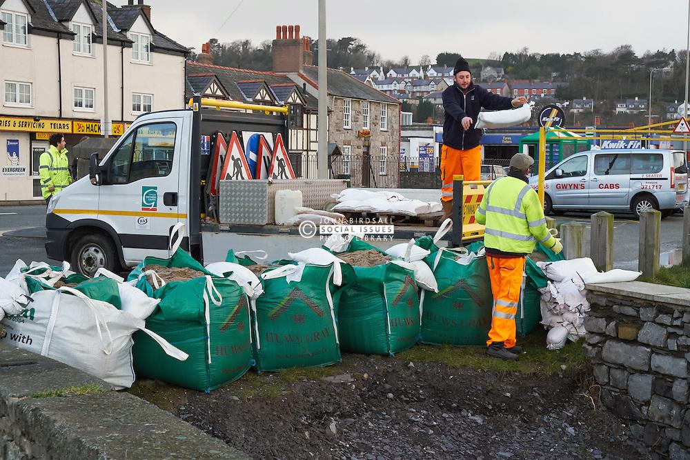 Flood prevention. Beach Road, Bangor, Gwynedd, North Wales