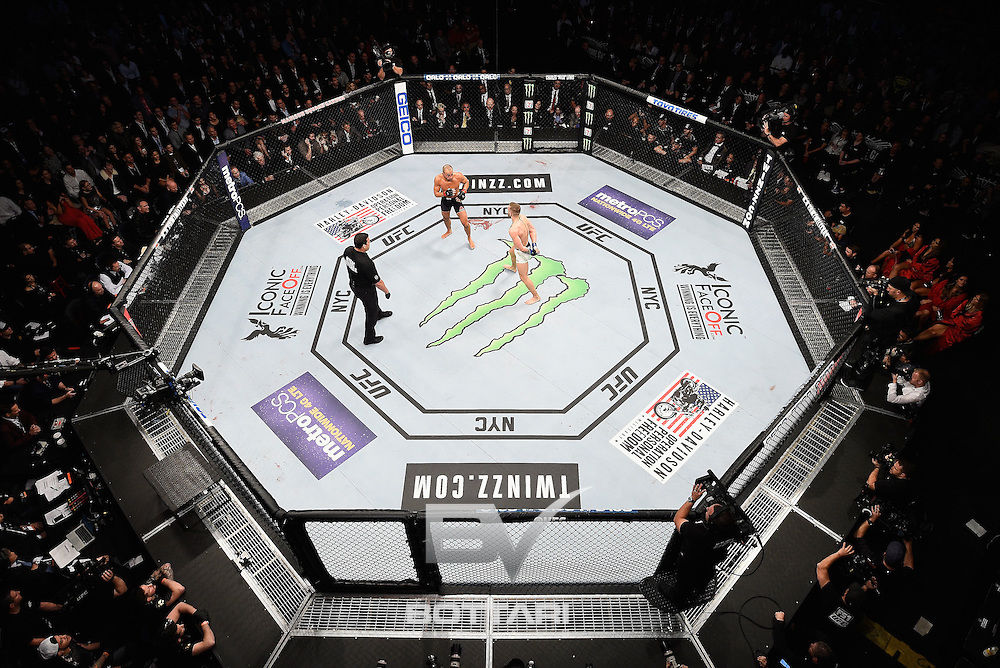 NEW YORK, NY - NOVEMBER 12:  A general view during the match between Eddie Alvarez of the United States and Conor McGregor of Ireland during the UFC 205 event at Madison Square Garden on November 12, 2016 in New York City.  (Photo by Jeff Bottari/Zuffa LLC/Zuffa LLC via Getty Images)
