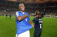 Fotball<br /> VM-kvalifisering<br /> Frankrike v Kypros 4-0<br /> 12.10.2005<br /> Foto: Dppi/Digitalsport<br /> NORWAY ONLY<br /> <br />  ALOU DIARRA (FRA) AT THE END OF THE MATCH