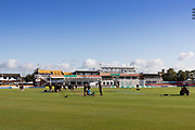 Ground view on last day of the season during the Specsavers County Champ Div 2 match between Leicestershire County Cricket Club and Lancashire County Cricket Club at the Fischer County Ground, Grace Road, Leicester, United Kingdom on 26 September 2019.