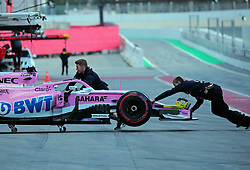 March 6, 2018 - Barcelona, Catalonia, Spain - the Force India of Sergio Perez during the Formula 1 tests at the Barcelona-Catalunya Circuit, on 06th March 2018 in Barcelona, Spain. (Credit Image: © Joan Valls/NurPhoto via ZUMA Press)