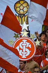 Torcida colorada durante partida entre as equipes do Gremio e Internacional realizada no Estádio Olímpico, em Porto Alegre, válida pela 26™ rodada do Campeonato Brasileiro. Foto: Jefferson Bernardes/Preview.com