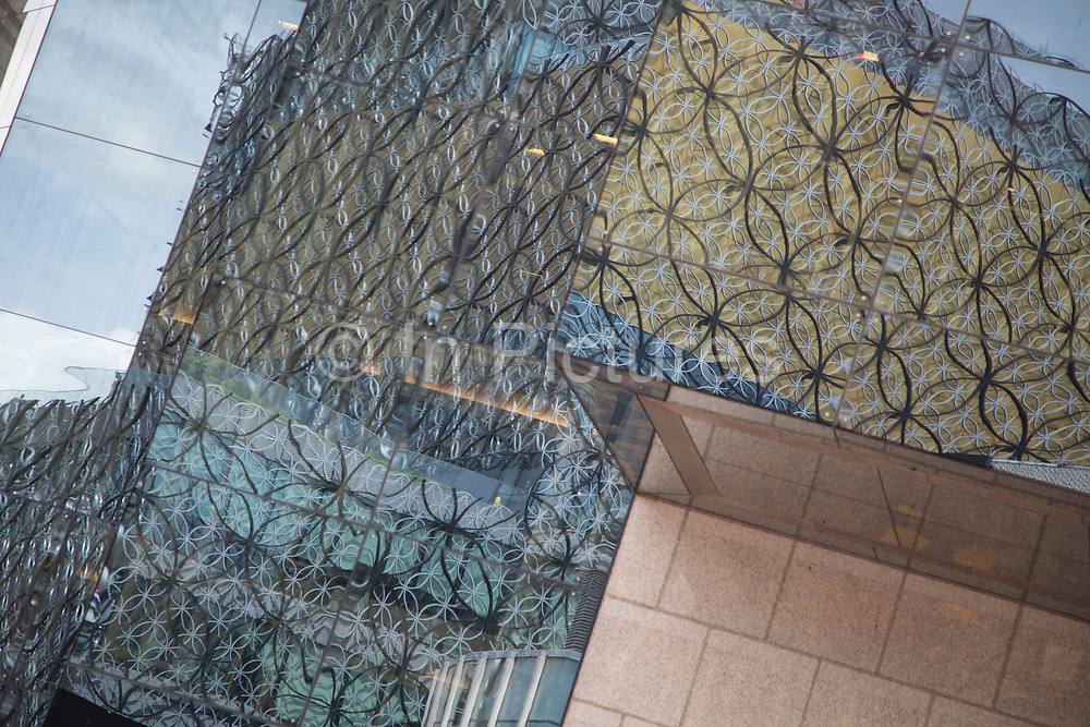 Exterior of the Library of Birmingham Birmingham, United Kingdom. The Library of Birmingham is a public library in Birmingham, England. It is situated on the west side of the city centre at Centenary Square, beside the Birmingham Rep to which it connects, and with which it shares some facilities and Baskerville House. Upon opening on 3 September 2013, it replaced Birmingham Central Library. The library is viewed by the Birmingham City Council as a flagship project for the citys redevelopment. It has been described as the largest public library in the United Kingdom, the largest public cultural space in Europe, and the largest regional library in Europe.