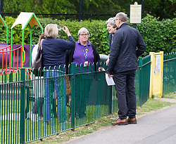 May 2, 2019 - Sonning, Berkshire, United Kingdom - Prime Minister Votes in the Local Elections. UK Prime Minister Theresa May casts her vote in the local elections at Sonning village hall,Berkshire. (Credit Image: © i-Images via ZUMA Press)