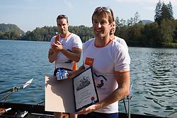 Iztok Cop during rowing at Slovenian National Championship and farewell of Iztok Cop, on September 22, 2012 at Lake Bled, Ljubljana Slovenia. (Photo By Matic Klansek Velej / Sportida)