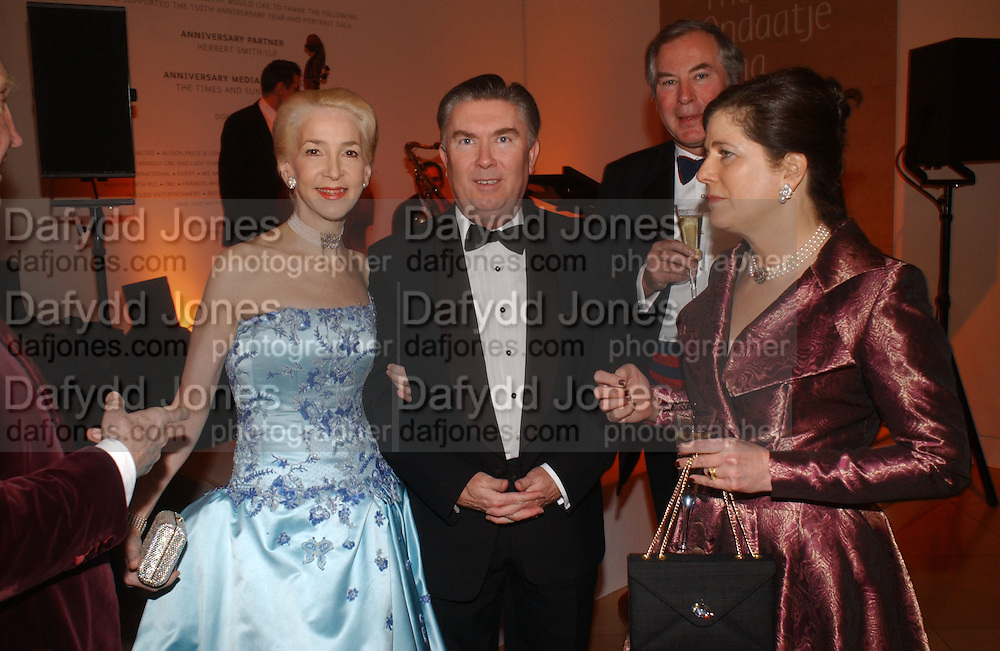 Sir Paul and Lady Judge and Frances and Charles Jackson National Portrait Gallery  150th Anniversary Fundraising Gala. National Portrait Gallery. London. 28 February 2006. ONE TIME USE ONLY - DO NOT ARCHIVE  © Copyright Photograph by Dafydd Jones 66 Stockwell Park Rd. London SW9 0DA Tel 020 7733 0108 www.dafjones.com
