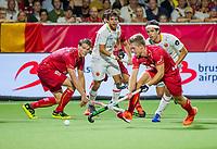 ANTWERPEN -  Felix Denayer (Belgie) )   tijdens finale mannen  Belgie-Spanje-,  bij het Europees kampioenschap hockey.  WSP/ KOEN SUYK