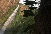 Tropical waterfall, Ghana. Wli falls, highest waterfall in west africa.
