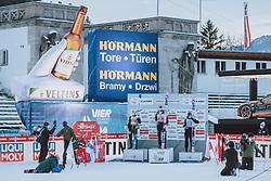 01.01.2021, Olympiaschanze, Garmisch Partenkirchen, GER, FIS Weltcup Skisprung, Vierschanzentournee, Garmisch Partenkirchen, Einzelbewerb, Herren, Siegerehrung, im Bild 2. Platz Halvor Egner Granerud (NOR), Sieger Dawid Kubacki (POL), 3. Platz Piotr Zyla (POL) // 2nd placed Halvor Egner Granerud of Norway Winner Dawid Kubacki of Poland 3rd placed Piotr Zyla of Poland during the winner ceremony for the men's individual competition for the Four Hills Tournament of FIS Ski Jumping World Cup at the Olympiaschanze in Garmisch Partenkirchen, Germany on 2021/01/01. EXPA Pictures © 2020, PhotoCredit: EXPA/ JFK
