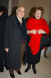 LADY ANTONIA FRASER and LORD WEIDENFELD at a the Orion Publishing Group Author Party and a private view of the 'Turner Whistler Monet' exhibition at Tate Britain, Atterbury Street, London SW1 on 23rd February 2005.<br /><br />NON EXCLUSIVE - WORLD RIGHTS