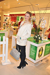 AMBER ATHERTON at the launch of the new John Lewis Beauty Hall, John Lewis, Oxford Street, London on 8th May 2012.