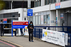 © Licensed to London News Pictures. 08/07/2020. LONDON, UK.  The exterior of Hillingdon Hospital, the main hospital in the Prime Minister's Uxbridge and South Ruislip constituency, which has closed to emergency admissions after a coronavirus outbreak amongst NHS staff.  The NHS Trust has announced that an outbreak of Covid-19 was declared on 3 July and as of 7 July, 70 members of staff are isolating, a number of whom have tested positive for Covid-19.  Photo credit: Stephen Chung/LNP