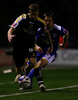 Photo: Steve Bond.<br /> Leicester City v Cardiff City. Coca Cola Championship. 26/11/2007. Paul Parry (L) pursued by Matty Fryatt (R)