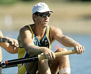 Sydney, AUSTRALIA, AUS,  James TOMKINS,  at  the Olympic Regatta, Penrith Lakes. NSW. Credit [Peter Spurrier/Intersport Images] .... 2000 Olympic Regatta Sydney International Regatta Centre (SIRC) 2000 Olympic Rowing Regatta00085138.tif