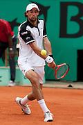 Roland Garros. Paris, France. 25 Mai 2010..Le joueur francais Jeremy CHARDY contre Lleyton HEWITT...Roland Garros. Paris, France. May 25th 2010..French player Jeremy CHARDY against Lleyton HEWITT...