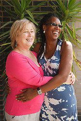Middle-aged lesbian couple. Cleared for AIDS, HIV, STDs, sexual and health issues.