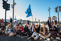 London, UK. 20 September, 2019. Students block Lambeth Bridge during the second Global Climate Strike in protest against a lack of urgent action by the UK Government to combat the global climate crisis. The Global Climate Strike grew out of the Fridays for Future movement and is organised in the UK by the UK Student Climate Network.