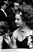 Martha Reed with champagne twizzle stick. Spanish gold medal Gala. Pierre Hotel. New york 17 November 1989. film DJ89571f20<br />© Copyright Photograph by Dafydd Jones<br />66 Stockwell Park Rd. London SW9 0DA<br />Tel 0171 733 0108  dafjones.com