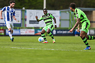 Forest Green Rovers Drissa Traoré(4) passes the ball during the Vanarama National League match between Forest Green Rovers and Chester FC at the New Lawn, Forest Green, United Kingdom on 14 April 2017. Photo by Shane Healey.
