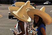 """Thousands attend Tucson Meet Yourself, an annual """"folklife"""" festival featuring artists and communities that carry on living traditions rooted in a group's own definition of identity, artistry, and cultural significance, Tucson, Arizona, USA."""