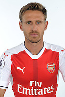 ST ALBANS, ENGLAND - AUGUST 03: (EXCLUSIVE COVERAGE)  Nacho Monreal of Arsenal at the 1st team photocall at London Colney on August 3, 2016 in St Albans, England.  (Photo by Stuart MacFarlane/Arsenal FC via Getty Images)