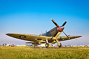 A fully restored and airworthy Supermarine Seafire F. XV, owned by Dr. Wes Stricker of Missouri.  AirVenture 2010.