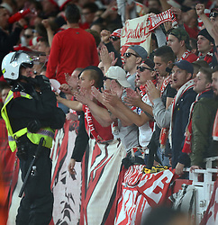 September 14, 2017 - London, Greater London, United Kingdom - 1.FC Koln  Fans.during UEFA Europa League Group H match between Arsenal and 1.FC Koln at The Emirates , London 14 Sept 2017  (Credit Image: © Kieran Galvin/NurPhoto via ZUMA Press)