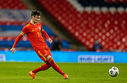 LONDON, ENGLAND - Thursday, October 8, 2020: Wales' Dylan Levitt during the International Friendly match between England and Wales at Wembley Stadium. The game was played behind closed doors due to the UK Government's social distancing laws prohibiting supporters from attending events inside stadiums as a result of the Coronavirus Pandemic. England won 3-0. (Pic by David Rawcliffe/Propaganda)