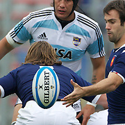 French scrum half Morgan Parr, in action during the Argentina V France test match at Estadio Jose Amalfitani, Buenos Aires,  Argentina. 26th June 2010. Photo Tim Clayton...
