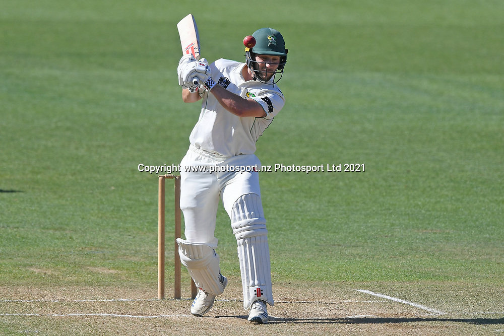 Central Stags Dane Cleaver ducks a bouncer in the Plunket Shield Cricket match, Central Districts v Canterbury, McLean Park, Napier, Tuesday, April 06, 2021. Copyright photo: Kerry Marshall / www.photosport.nz