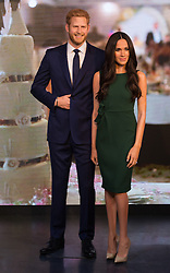© Licensed to London News Pictures. 09/05/2018. London, UK. A waxwork of HRH PRINCE HARRY and a new waxwork of MEGHAN MARKLE appear at Madame Tussaud's. The American actress from the US TV series Suits, will marry HRH PRINCE HARRY at Windsor Castle later this month on May 19th. 2018Photo credit: Ray Tang/LNP