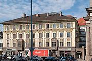 Urban street scene in Innsbruck, Austria,