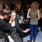 NLD/Amsterdam/20120128 - Modeshow Supertrash, backstage,