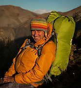 Aarn Tate, New Zealand outdoor equipment designer, inventor, innovator & conservationist, best known for his Aarn packs using two front pockets to balance the load.