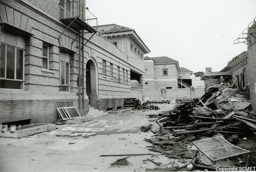 1977 Demolition of the police Station on Wilcox Ave.