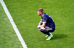 Scotland's Liam Cooper appears dejected after the UEFA Euro 2020 Group D match at Hampden Park, Glasgow. Picture date: Monday June 14, 2021.