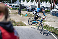 #477 (BOUGERES William) FRA during practice at Round 5 of the 2018 UCI BMX Superscross World Cup in Zolder, Belgium