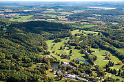 Image from a flight over Devil's Head Resort, Sauk County, Wisconsin and the Baraboo Hills  on a beautiful autumn day.
