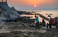 """Yangma island, prefecture Yantai, Shandong, China. Yangma Island is situated by the Yellow Sea and it is called """"the pearl in the sea""""."""