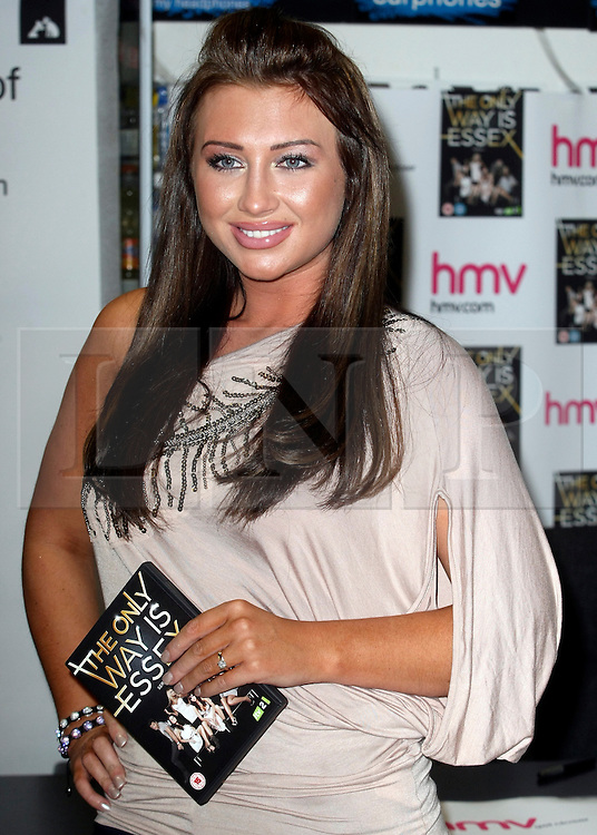 © under license to London News Pictures. 28/03/11.Lauren Goodger.  'The Only Way Is Essex' cast promote and sign copies of their new DVD at HMV in Lakeside mall. Essex, England. Photo credit should read Andy Barnes/LNP