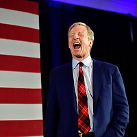 Democratic Presidential candidate entrepreneur Tom Steyer takes the stage at his election night party on the day of the South Carolina Presidential Primary in Columbia, South Carolina, U.S., February 29, 2020. REUTERS/Mark Makela