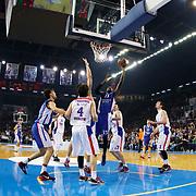 Anadolu Efes's Stephane Lasme (C) during their Turkish Airlines Euroleague Basketball Top 16 Round 3 match Anadolu Efes between CSKA Moscow at Abdi ipekci arena in Istanbul, Turkey, Thursday 15, 2015. Photo by Aykut AKICI/TURKPIX